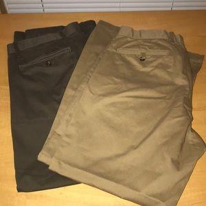 2 pairs of Classic Gap Khaki pants. Sz 38x30.